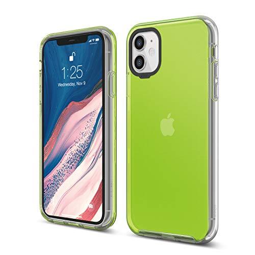 Elago Custodia Ibrida Compatibile con Apple iPhone 11 (6.1') - PC Duro Antiurto + Parte Inferiore Morbida in TPU, Protezione Full Body, Bordo Rialzato (Protezione Schermo & Fotocamera) (Neon Giallo)