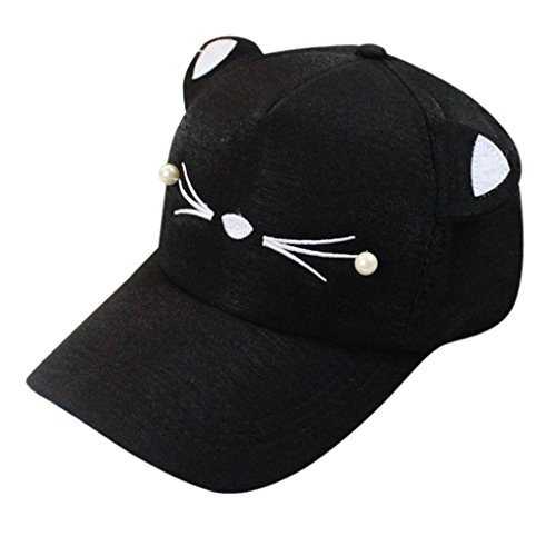 OYSOHE Damen Herren Unisex Sonnenhut, Neueste Spring Fashion Gezeiten Pearl Wild Cute Student Katze Ohren Visor Baseball Cap