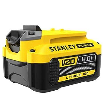 STANLEY Batterie lithium ion 18V 4Ah, Gamme FATMAX V20, avec une technologie améliorée, SFMCB204-XJ