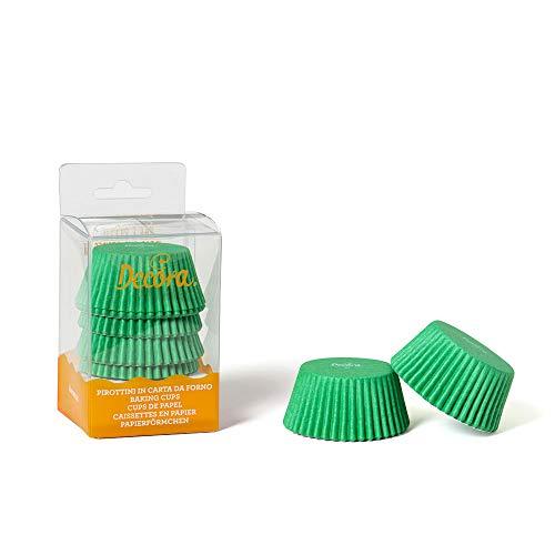 Decora 0339673 Paquet 75 CAISSETTES Vert 50 X 32 MM, Paper, Green, 30 x 5 x 3,2 cm