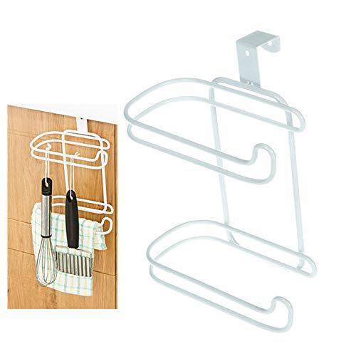 VPbao 1 st multifunctionele kantoor opknoping rol papier handdoek houder, beker mok servet Tissue kunst opslag kasten, geen boren voor keuken badkamer Eén maat #7:Wit