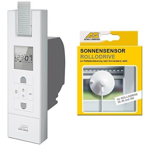 Schellenberg El. Gurtwickler Rollodrive 65 Plus, weiß, 22766 + Schellenberg Sensor für RD55, RD65 und RD105, weiß, 22720