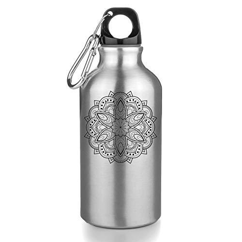 KRISSY Hipster Yantra Mandala Hinduism Buddhism Hindu Dharma Govinda Shiva Buddha India Freie Trinkflasche Wasserflasche Sport Camping Tourist Water Bottle