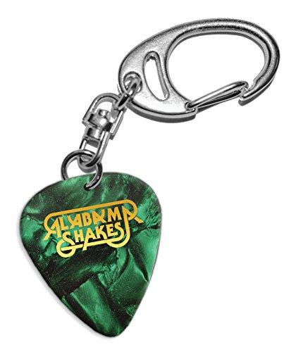 Alabama Shakes Gitarre Plektrum Keyring Schlüsselanhänger Green Pearl (GHF)