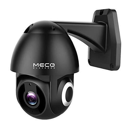 IP Kamera Outdoor, MECO ELEVERDE 1080P Wlan Kamera HD Schwenk- / Neige-WiFi-kamera mit Wasserdichtigkeit, Bewegungserkennung, automatischer Verfolgung, Nachtsicht, 2-Wege-Audio, kompatibel mit Alexa