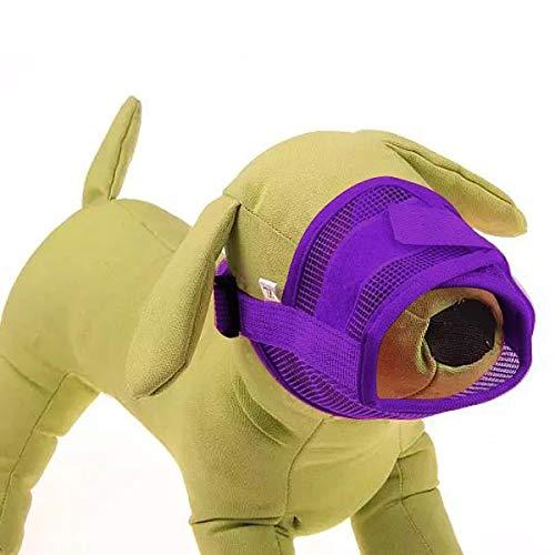 Tuzi Qiuge Hundemaulkorb Breathable Nylon-Mesh-Einstellbare Anti-Chew und Anti-Biss Sicherheitsgurt-weiche Haustier-Bark Mund geeignet for mittleres Schwarz Kleiner Hunde, Größe L: 18-24cm (Schwarz)