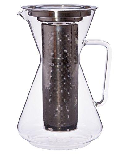 Trendglas Jena Teekanne MORA mit Deckel und Edelstahlfilter, 1,5 Liter