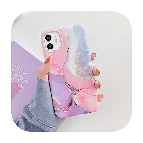 Hopereo Vintage mármol textura teléfono caso para iPhone 12 11 Pro Max Xr Xs Max 7 8 Plus X mate suave Imd Chic mármol contraportada para iPhone 11