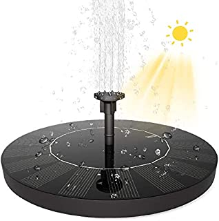 Australove Solar Fountain Pump for Bird Bath,Newest 1.5W Outdoor Solar Water Pump Garden with 1000mAh Battery Backup,with ...