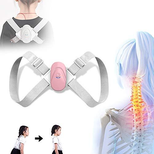 BELOVINGSHOP Haltungskorrektur Rückentrainer, Rücken Geradehalter mit Sensorvibrationserinnerung, Verstellbare Träger Hilfe bei Nacken, Schulter- und Rückenschmerzen,Rosa