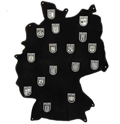 polizeimemesshop Deutschland Patch Klettmatte mit Ösen schwarz
