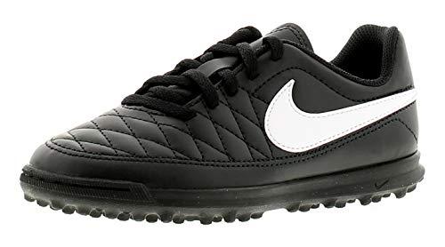 Nike Jr Majestry Tf, Scarpe da Calcetto Indoor Unisex-Bambini, Nero (Black/White-Volt 017), 29.5 EU