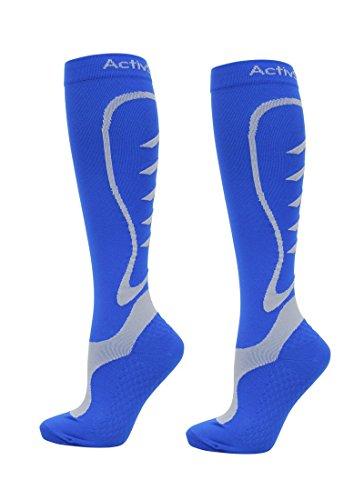 ActivSocks Calze a Compressione Graduata Sportive (Ciclismo/Atletico) | 1 Paio | Compressione Graduata da 20 a 30 mmHg | Lunghezza al Polpaccio | Migliorano Le Prestazioni atletiche e la Resistenza