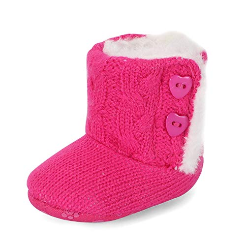 Ortego Baby Mädchen Schuhe Winter Hausschuhe Winterschuhe Winterstiefel Babyschuhe 18 Pink 0-6 Monate