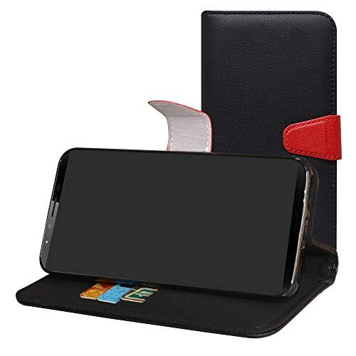 Labanema CUBOT X18 Plus Coque, PU Cuir Flip Housse Étui Cover Case Wallet Portefeuille Support avec Porte-Cartes pour CUBOT X18 Plus -Noir