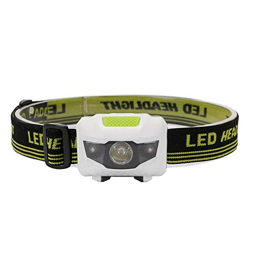 XWYWP Linterna de cabeza 4 modos impermeable LED linterna blanca + roja lámpara de cabeza de luz antorcha uso 3 x AAA