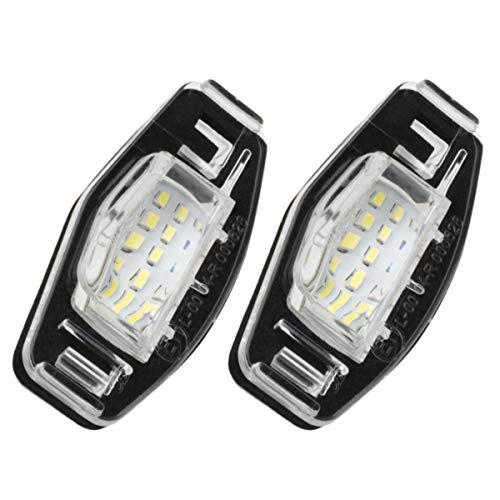 Partsam 2PCS 6000K White License Plate Light Assembly 12V 18-SMD LED Lamp Bulbs Replacement for Honda Civic Pilot Accord Odyssey Acura MDX RL TSX ILX RDX