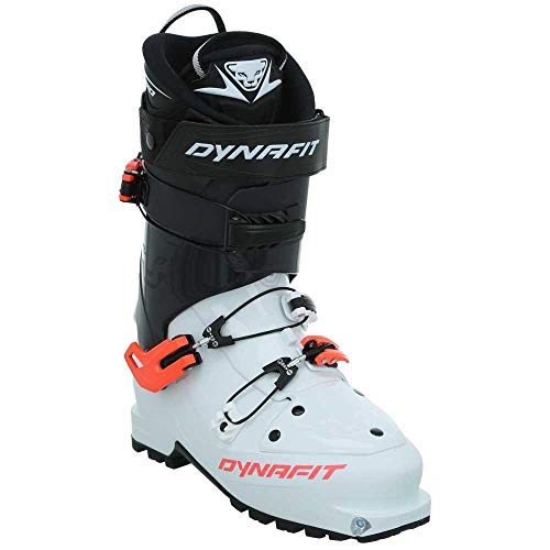 DYNAFIT W Neo PU Boot Schwarz-Weiß, Damen Touren-Skischuh, Größe EU 36.5 - Farbe White - Fluo Coral