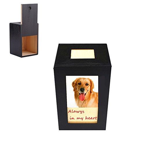 Meiyaa - Caja de fotos conmemorativa para perro, gato y animales pequeos, de madera, para cremacin de mascotas