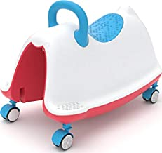 Chillafish Trackie: Baby/Toddler Walker, Rocker, Ride-on, Play Train All-in-one, Ages 1 to 5, Blue and Red