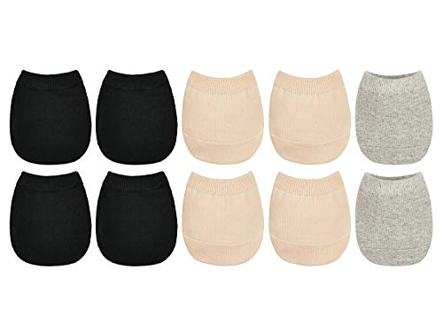 5 Paare Damen Zehlinge Füßlinge Halbe Socken Unsichtbare Toe Topper Socken für High Heels Ballerina