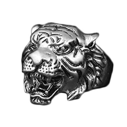 WeishenG World-Wide Moda Animal Tigre Cabeza Anillo