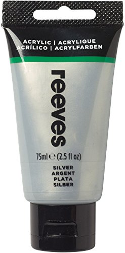 Reeves - Pintura acrílica 75 ml, Plata