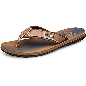 TIANYUQI Mens Flip Flops Thong Sandals Beach Casual Comfort Soft Slippers