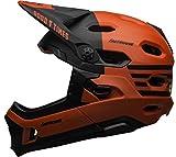 BELL Super DH Mips, Casco da bicicletta MTB Unisex-Adulti, Opaco/rosso lucido/nero Fasthouse, L   58-62cm
