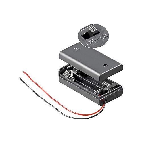 Goobay 12443 2x AA (Mignon) portabatterie - Estremità dei cavi allentati  idrorepellente  commutabile