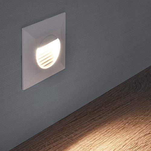 LED Treppenbeleuchtung Treppenleuchte Wand Einbauleuchte Einbaustrahler Treppenlicht Flurleuchte Nachtlicht 1102S (Variante 13)