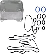 APDTY 015369 Engine Oil Cooler With Gaskets Fits 2008-2010 Ford F250 F350 F450 F550 6.4L Diesel (Replaces Ford 8C3C-6A642-A, 8C3Z-6A642-A, 8C3Z6A642A)