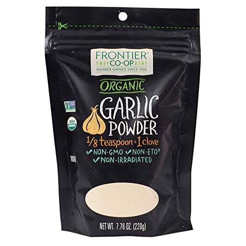 Frontier Co-op Garlic Powder, Certified Organic, Kosher   7.76 oz Resealable Bag   Allium sativum L.
