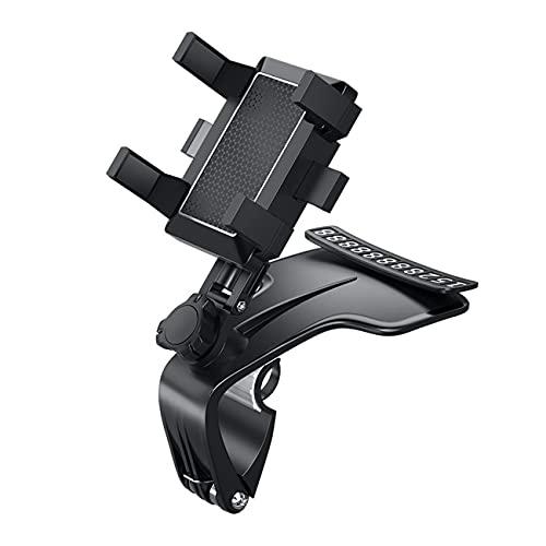 Ashley GAO Soporte de teléfono de montaje de coche 1200 grados rotación teléfono móvil clip consola central coche manos libres navegación soporte marco