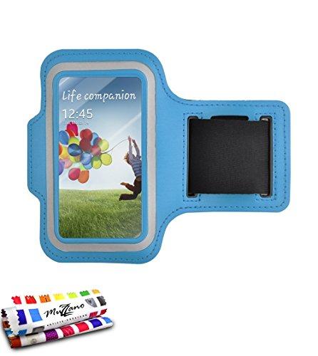 MUZZANO-Fascia da Braccio per Samsung Galaxy S3, Colore: Blu Lagoon