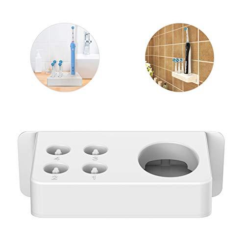 BENSN Halter Ersatz für Braun Oral-B Elektrische Zahnbürste Typ 3757 Ladestation Halterung und 4 Zahnbürstenhalterung, Desktop oder an der Wandhalterung