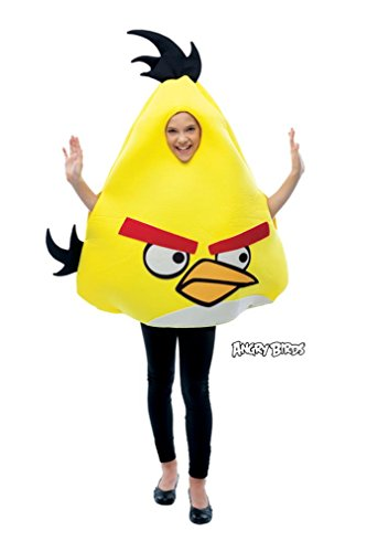 HUGHES Angry Birds Kinderkostüm gelb - Einheitsgröße