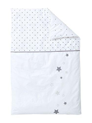 VERTBAUDET Funda nórdica Lluvia DE Estrellas Blanco/Gris 80X120
