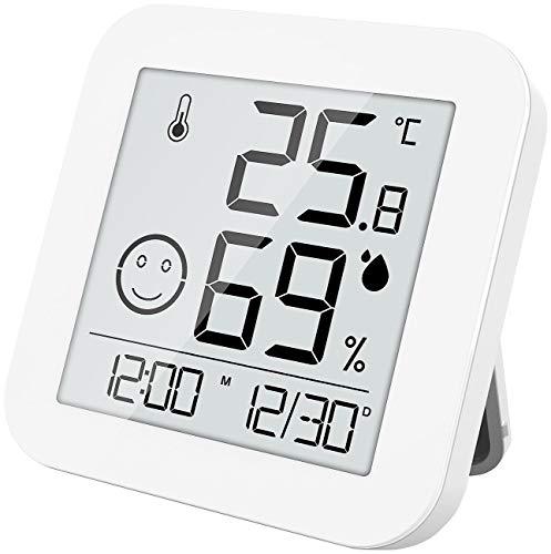 infactory Thermometer Hygrometer: Digitales E-Ink Thermo- und Hygrometer mit extralanger Laufzeit (Thermometer Feuchtigkeitsmesser)