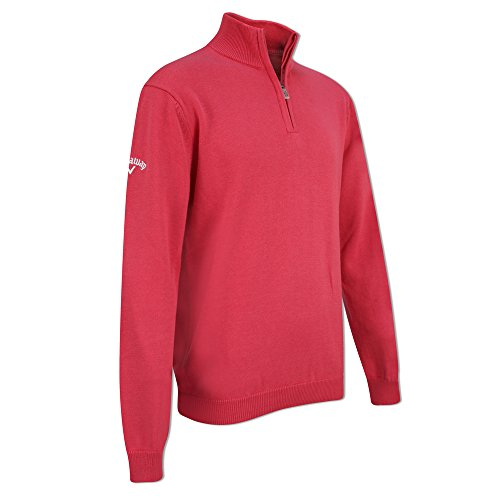 Callaway Youth 1/4 Zip Sweater de Golf, Niños, Rojo, XL