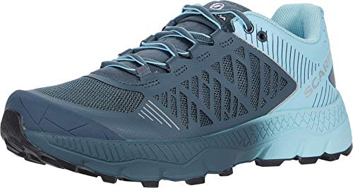 SCARPA Women's Spin Ultra Trail Shoes for Hiking and Trail Running - Iron Grey/Sky - 6-6.5