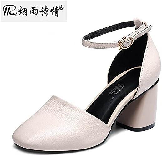SFSYDDY 6 Cm De Talons Hauts Sandales Amoy Petite Bouche Les Chaussures Des Chaussures Baotou Talons Hauts.