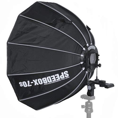 Impulsfoto SMDV Speedbox-70s, Mobile Zwölfeckige-Softbox 70cm, Weiche Ausleuchtung, Für entfesselte Aufsteckblitze mit Standard ISO/Sony Multi Interface Blitzschuh