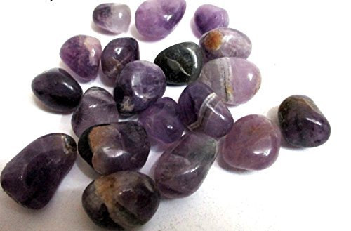 Jet Amethyst Tumbled Stones 100 gm Healing Positive Energy Reiki Pouch Gift Aura