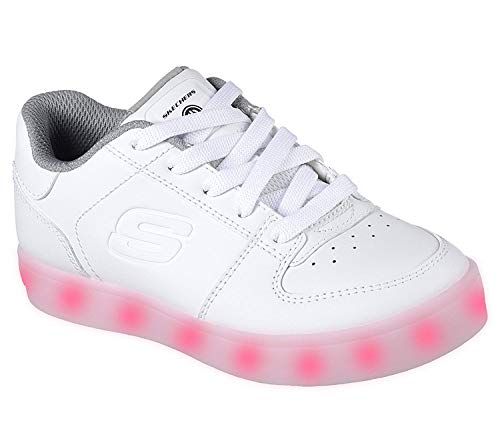 Skechers Jungen Energy Lights Elate Sneaker, Weiß (White), 35 EU