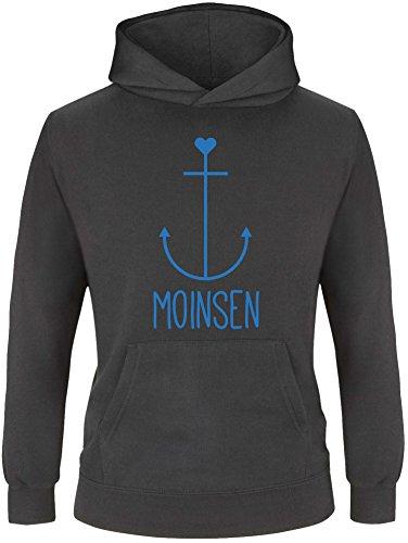 EZYshirt® Moinsen   Hamburg   Moin Moin   Anker Kinder Hoodie   Kinder Kapuzenpullover   Kinder Pullover