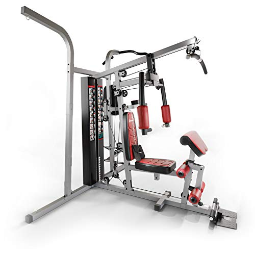 Sportstech Premium 50in1 Kraftstation für EIN Allround Training | Multifunktions-Heimtrainer mit Stepper & LAT-Zugturm | HGX Fitness-Station aus Eva Material | Robust für Zuhause (HGX250)
