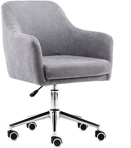 Elegante silla oficina, silla giratoria Silla de oficina gris | Asiento de rotación de 360 ° | Ajuste de altura | Cojín de 12 cm de espesor | Capacidad de rendimiento de 160 kg | Adecuado para sala