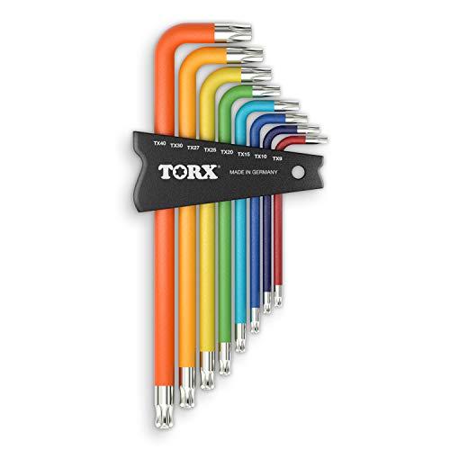 TORX® 70587 Winkelschraubendreher Set 8tlg, TX8–TX40, mit Color Grip — Made in Germany