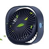 LoiStu USB Desk Fan, 4 Inch Portable Ultra-Quiet Mini Fan, 360° Up and Down, Three-Speed Wind,...
